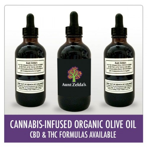 Cannabis-Infused Organic Olive Oil - THC Logo