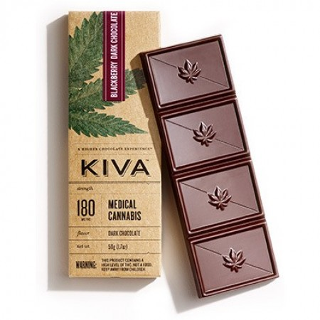 Blackberry Dark Chocolate (180mg) - Chocolate - Kiva